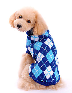 Dog Sweater Blue Dog Clothes Winter / Spring/Fall Plaid/Check