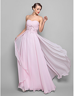 A-line Plus Sizes / Hourglass / Pear / Misses / Petite / Apple / Inverted Triangle / Rectangle Mother of the Bride Dress - Blushing Pink
