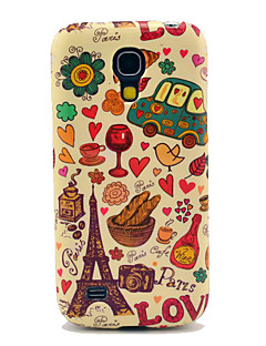 Eiffel Tower & Bread Glossy TPU Case for Samsung Galaxy S4 mini I9190 I9195