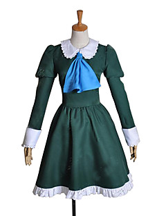 Inspired by Cosplay Mary Video Game Cosplay Costumes Cosplay Suits / Dresses Patchwork Green Long Sleeve Dress