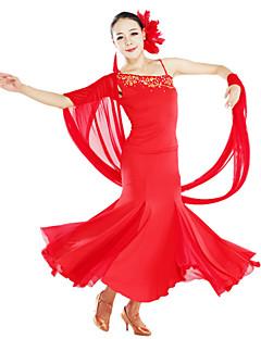 Ballroom-dans Drakter / Kjoler Dame Trening Tyll / Viskose Svart / Rød / Hvit Moderne Dans / Oppvisning Vår, Høst, Vinter, Sommer Naturlig
