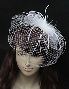 Wedding Veil One-tier Blusher Veils Organza White / Black A-line, Ball Gown, Princess, Sheath/ Column, Trumpet/ Mermaid