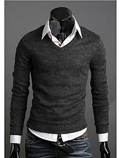 uusi muoti myydyin kevät monivärinen villapaita ohut v-kaula perus villapaita uros ohut villapaita