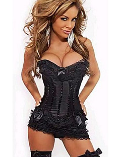 Sexy Lady Black Lace Women's Halloween Corset Costume