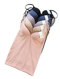 kvinners solid blå / rosa / hvit / svart modal vest, spaghetti stropp ermeløs med trådløs bra polstret