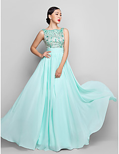 Formal Evening/Prom/Military Ball Dress Plus Sizes A-line Scoop Floor-length Chiffon
