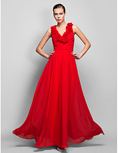 TS Couture® Formal Evening / Prom / Military Ball Dress - Ruby Plus Sizes / Petite Sheath/Column V-neck Floor-length Chiffon