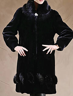 Long Sleeve Pillow Faux Fur Party/Casual Coat