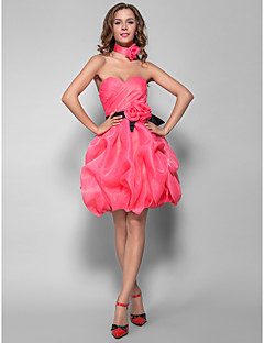 Homecoming Cocktail Party/Prom/Holiday/Homecoming Dress - Watermelon Plus Sizes A-line/Princess Sweetheart Short/Mini Organza