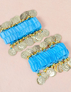 Belly Dance Coin Décor Chiffon Arm Cuffs Wrist Bracelets(10 Colors Available)