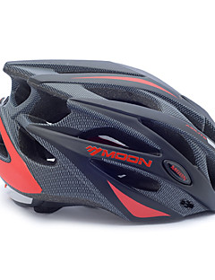 MOON Bike Helmet Cycling Black and Red PC/EPS 21 Vents Protective Ride Helmet