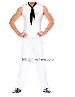 Costume (4 peças) salior terno branco dos homens