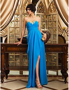 Formal Evening/Prom/Military Ball Dress - Ocean Blue Sheath/Column Sweetheart Floor-length Chiffon