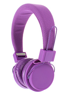 EX09I 3,5 mm Stereo High Quality On-Ear-Kopfhörer für PC/MP3/MP4/Telephone (Purple)