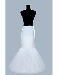 Slips Mermaid and Trumpet Gown Slip Floor-length 1 Polyester Organza White