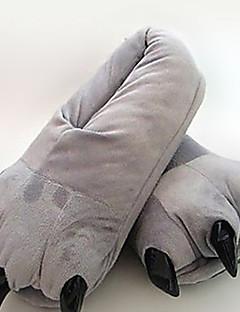 Kigurumi Pyjamas Karton Gymnastikanzug/Einteiler Fest/Feiertage Tiernachtwäsche Halloween Grau einfarbig Baumwolle Pantoffeln Für Unisex