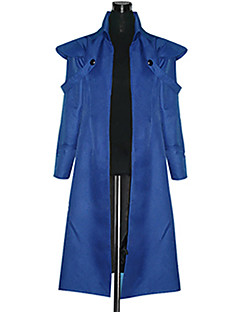 Inspired by Attack on Titan Eren Jager Anime Cosplay Costumes Cosplay Suits Patchwork Blue Long Sleeve Coat
