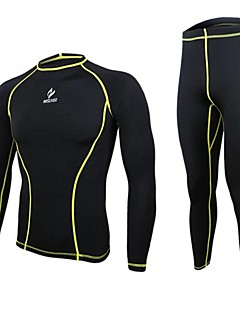 ARSUXEO® Men's Long Sleeve Running Compression Clothing Tights Pants/Trousers/Overtrousers Base Layers Clothing Sets/SuitsBreathable