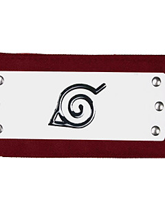 Jewelry / Headpiece Inspired by Naruto Cosplay Anime Cosplay Accessories Headband Red Alloy Male
