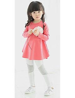 Dívka je Jednobarevné Celoročně Šaty Lykra