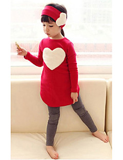 Girl's 3 Pieces Clothing Sets (T-Shirt&Leggings&Hair Band)