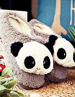 Cute Grey Smiling Panda Uld Mænds Slide Slipper