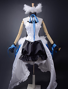 Inspired by Vocaloid Hatsune Miku Video Game Cosplay Costumes Cosplay Suits / Dresses Patchwork White / Black / BlueDress / Headband /