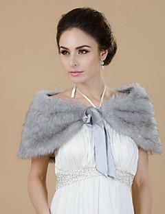 Vakre Faux Fur Evening / brudesjalet