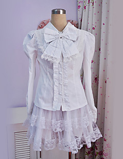 Lovely Girl White Polyester Slim Sweet Lolita Blouse