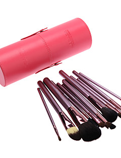 13Pcs Cosmetic Brush Tools with Red Cylinder Tube (More Color)
