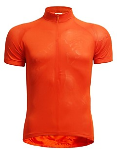 Jaggad Cycling Jersey Men's Short Sleeve Bike Breathable Quick Dry Jersey Tops Polyester Elastane Solid Summer Cycling/Bike