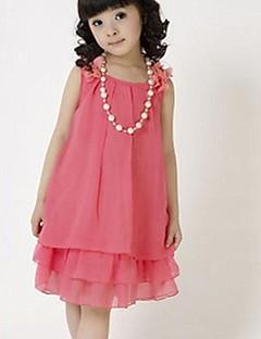 Girl's Solid Dress,Chiffon Summer