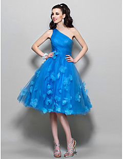 TS Couture  / Cocktail Party / Prom Dress - Ocean Blue Plus Sizes / Petite A-line One Shoulder Knee-length Tulle
