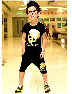 Fashion T-shirts jongen + Shorts Stelt Mooie Zomer Two Pieces Sport Sets Kleding Set
