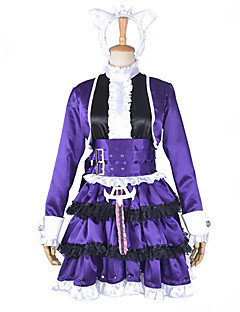 Inspired by League of Legends Annie Video Game Cosplay Costumes Cosplay Suits Patchwork Purple Dress / Headpiece / Belt / Leg Warmers