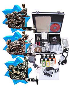 Tattoo Machine Kit Completed Set With 3 Tattoo Gun Machines