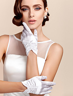 Wrist Length Fingertips Glove Satin Bridal Gloves Party/ Evening Gloves Spring Summer Fall
