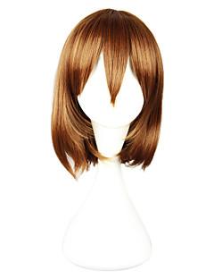 Косплэй парики Косплей Косплей Коричневый Короткие платья Аниме Косплэй парики 33 CM Термостойкое волокно Женский