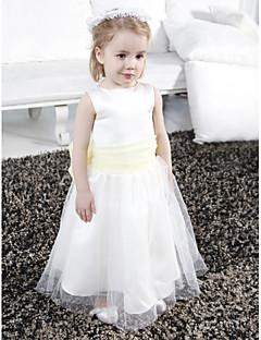 ADIRA - kjole til blomsterpige i satin og tyl