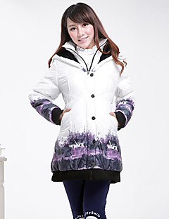 Maternity's Winter Laple Neck Single Breasted Painting Thicken With Hat Trench Coat