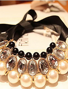 女性用 ステートメントネックレス パールネックレス ジュエリー 真珠 イベント/ホリデー 結婚式 ジュエリー 用途 結婚式 パーティー 誕生日