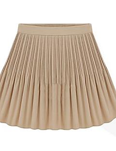Women's Pleats Chiffon Mini Skirt