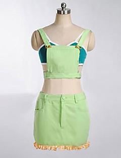 קיבל השראה מ אוהב את חיים Kotori Minami אנימה תחפושות קוספליי חליפות קוספליי טלאים ירוק בלי שרוולים עליון / חצאית