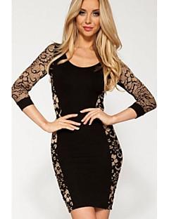 Sexy Party damski 3/4 Vintage Lace suknia w kolorze czarnym