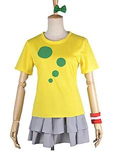 קיבל השראה מ אוהב את חיים Kotori Minami אנימה תחפושות Cosplay חליפות קוספליי טלאים צהוב קצר חולצת טי / חצאית