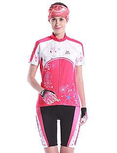 Mysenlan Women's Short Sleeve Bike Clothing Suits Quick Dry Wearable Breathable Spandex 100% Polyester Polyamide Spring SummerLeisure