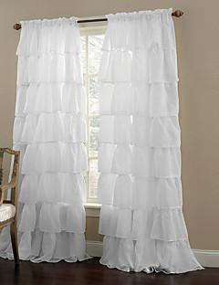 Un Panou Tratamentul fereastră Modern , Solid Sufragerie Poliester Material Sheer Perdele Shades Pagina de decorare For Fereastră