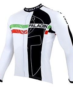 ILPALADINO Cycling Jersey Men's Long Sleeve Bike Jersey Tops Thermal / Warm Quick Dry Ultraviolet Resistant Breathable 100% Polyester