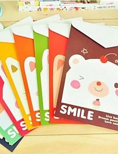 Animal Family Mønster Papir File Lodret Version (tilfældig farve)