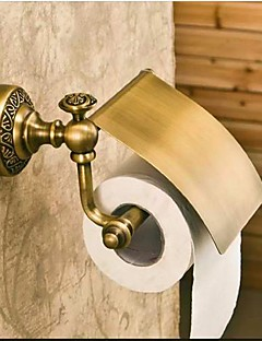 Porte Papier Toilette Bronze Antique Fixation Murale 19*10cm(7.48*2.93inch) Laiton Antique